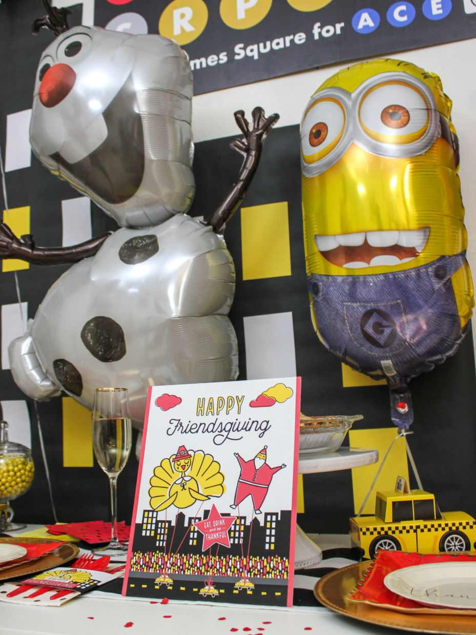 Thanksgiving Day Parade, Thanksgiving Day Parade Friendsgiving, Thanksgiving Day Parade kids table, Friendsgiving, NYC parade friendsgiving, Just Add Confetti, Fun365, brand partnership, Oriental Trading, leftovers are for quitters, NYC friendsgiving, Thanksgiving, NYC Thanksgiving, free printables, party printables