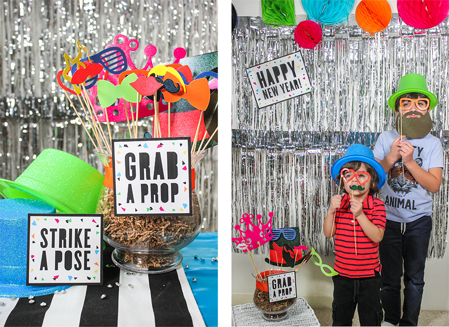 new years eve, new years eve party, new year, make some noise, noise makers, grab a prop, strike a pose, photo booth, new years photo booth, countdown party, count down to the new year, Just Add Confetti,
