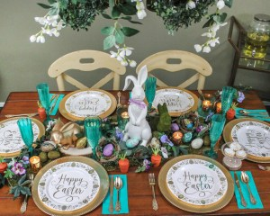 Woodland Easter Tablescape