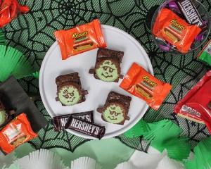 Halloween Frankenstein Brownies