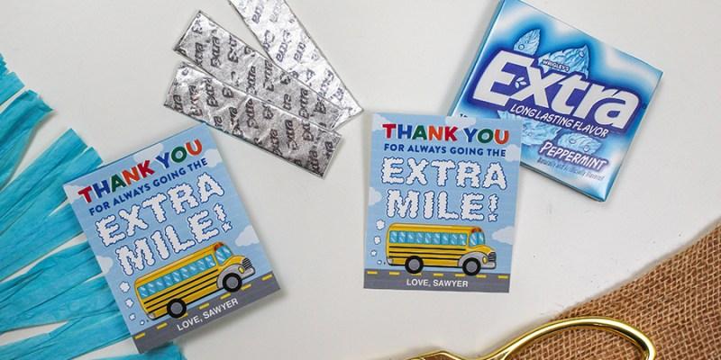 Extra Gum Bus Driver Appreciation Gift