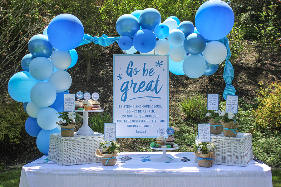 first holy communion celebration party table