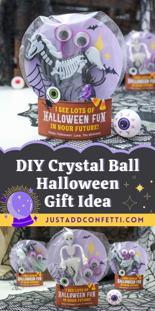 DIY Crystal Ball Halloween Gift Idea, Halloween gift, Just Add Confetti, Halloween printables, Halloween fun, DIY Halloween, Halloween