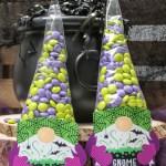 DIY Halloween gnome treat bags, Gnome treat bag tags, gnome gift tags, Halloween gnome, Just Add Confetti, Halloween, gnome, gnome tricks just treats, gnome candy hat, candy cone hat, cone treat bag, Etsy shop, Just Add Confetti Etsy shop, shop, kids Halloween, Halloween treat, Halloween gift, Halloween gift idea, gnome gift idea, gnome Halloween gift, witch gnome