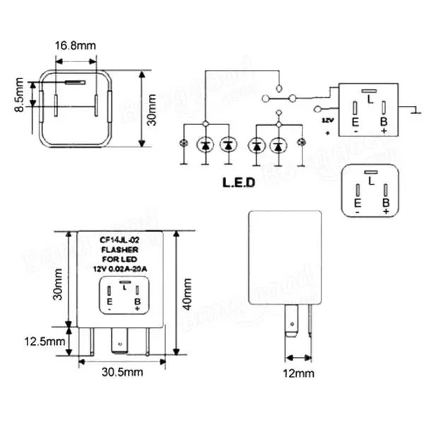 Cool Led Flasher Unit Relay Just Add Lightness Wiring 101 Photwellnesstrialsorg