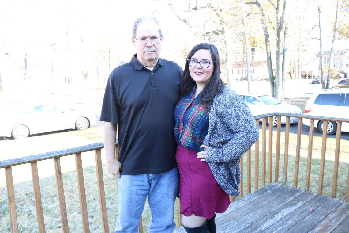 photo of my dad and i on thanksgiving 2017