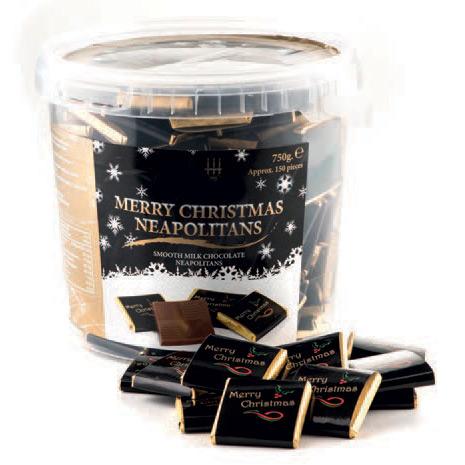 Merry Christmas Chocolate Neapolitan Tubs  Branded