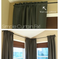 How To Make Living Room Curtains Photos Of Modern Farmhouse Rooms 2 Easy Curtain Fix Just A Girl Blog Diy