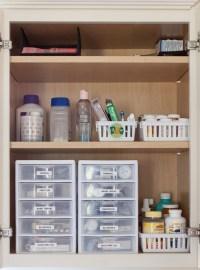 Medicine Cabinet Organization - Just a Girl Blog