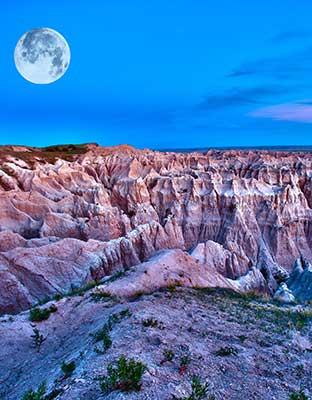 badlands moon photo