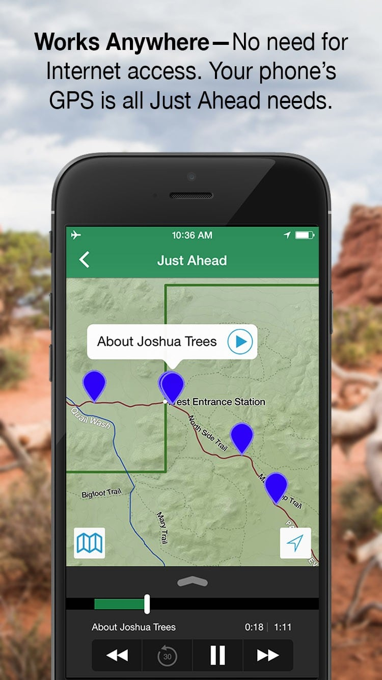 just ahead app works anywhere