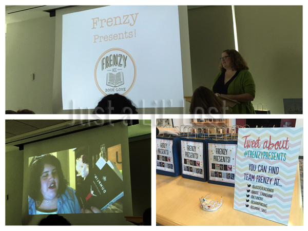 Lena Coakley speaking about her new book, Julie Murphy via video speaking about Dumplin', and some Frenzy Fun!