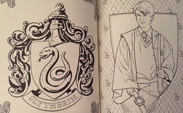 What to expect inside the Harry Potter Colouring Book