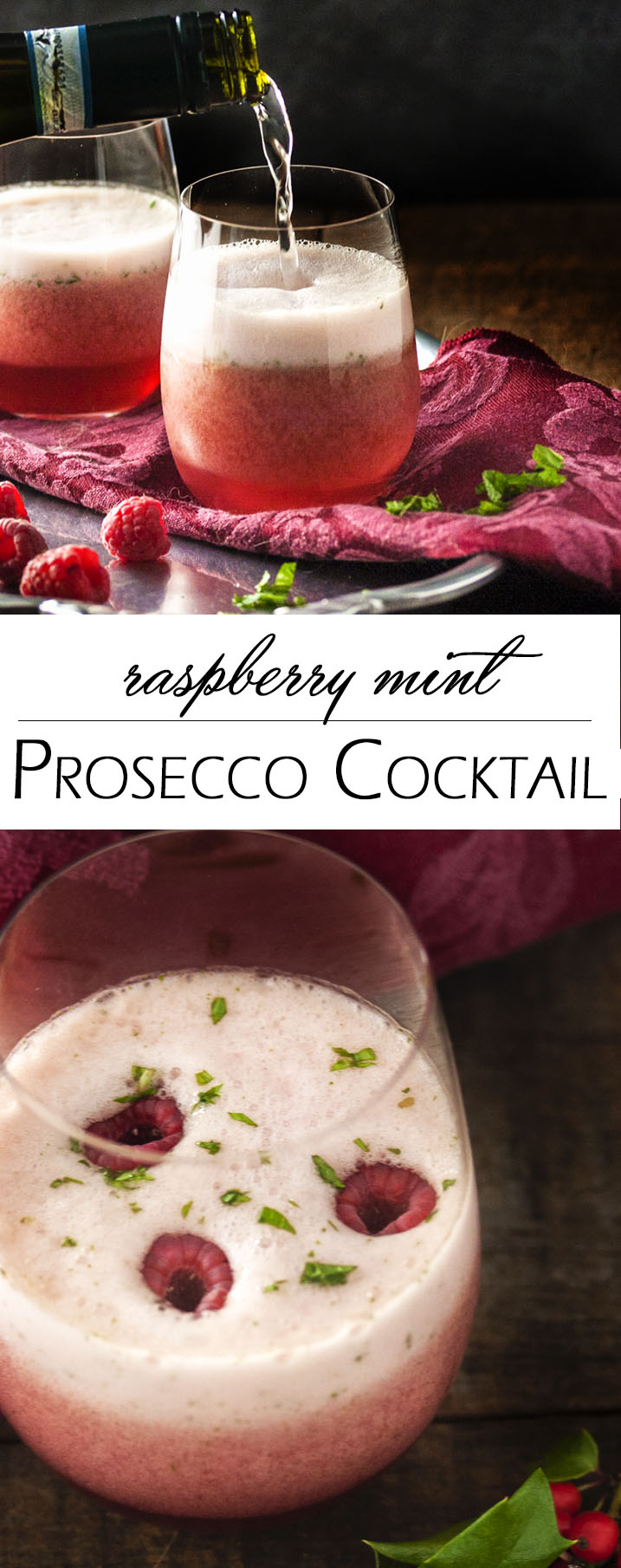 Raspberry Mint Prosecco Cocktail Just A Little Bit Of Bacon