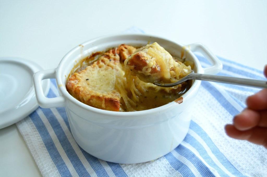 Fransk løksuppe med gruyere