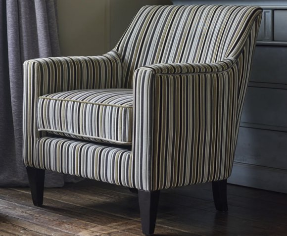 armchairs for living room cheap furniture golding silver striped fabric arm chair
