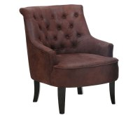 Wallfields Brown Faux Leather Occasional Chair