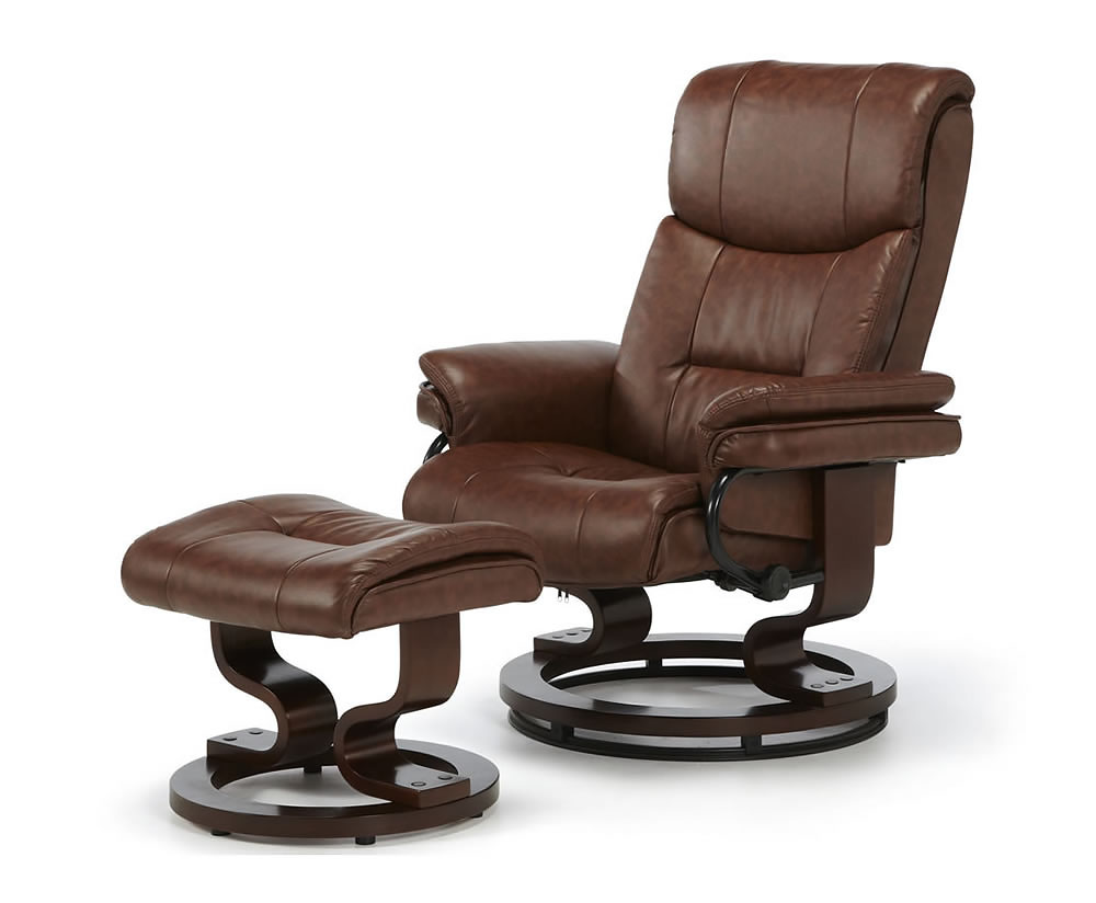 Spencer Faux Leather Recliner Chair  Just Armchairs