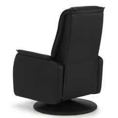 Faux Leather Recliner Chair Bedroom Fabric Linn Black Manual - Just Armchairs