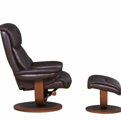 Swivel Chair Dimensions Fisher Price Easy Fold High Chingford Brown Bonded Leather And Foot Stool