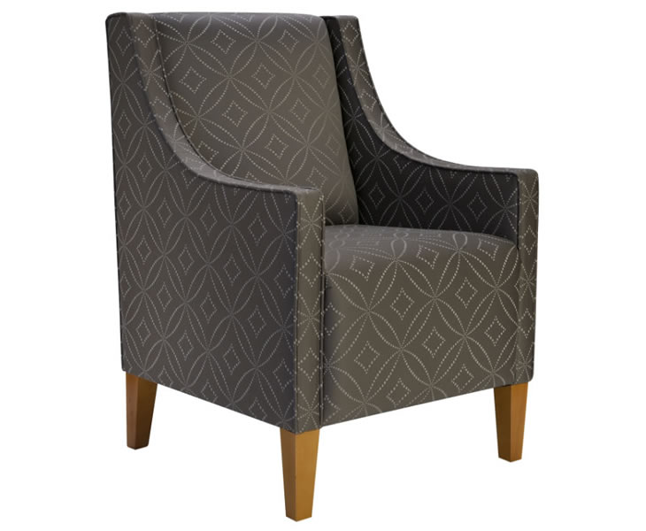 Allison Fabric Upholstered Bedroom Chair  Just Armchairs