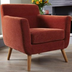 Accent Chair Orange Safavieh Sinclair Ring Side Roxy Fabric - Just Armchairs