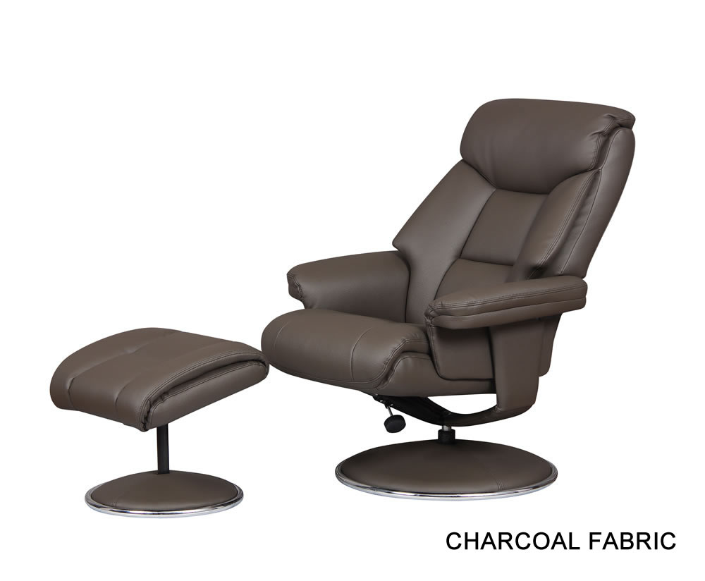 leather swivel recliner chair and stool wedding cover hire telford biarritz upholstered with foot - just armchairs