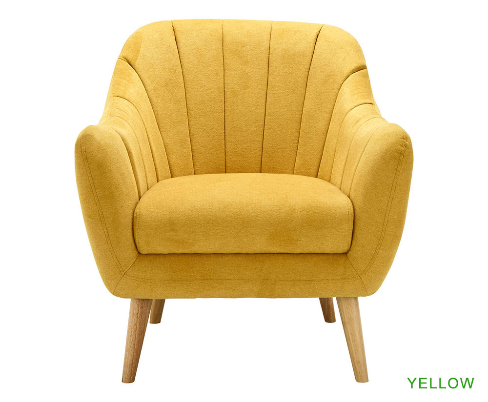 Yellow And Grey Armchair