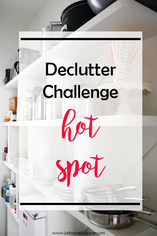 Declutter Challenge Hot Spot