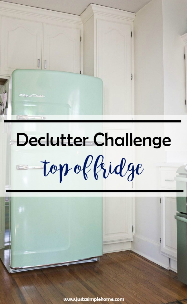 Declutter Challenge Top of Fridge