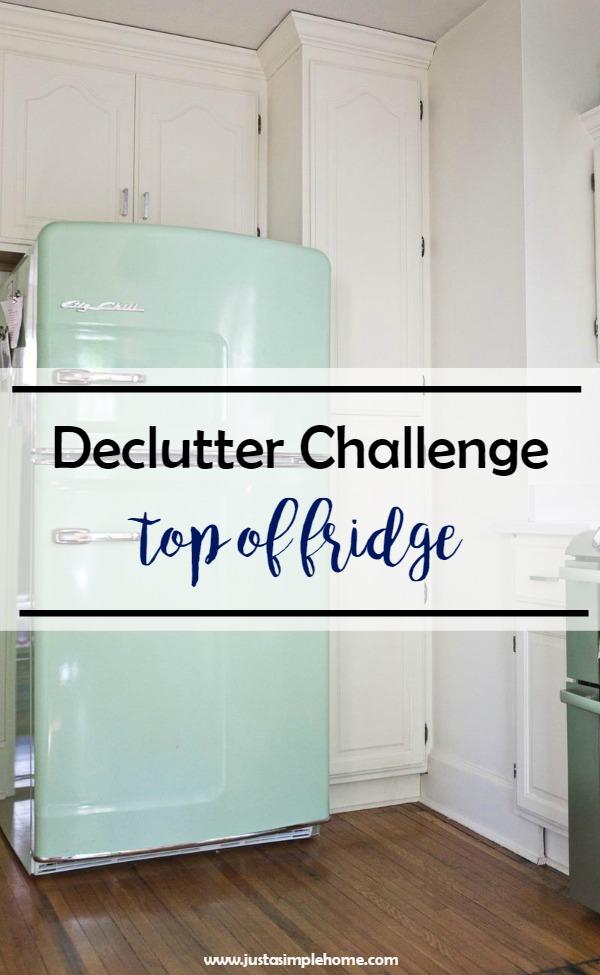 Declutter Challenge Top of Fridge