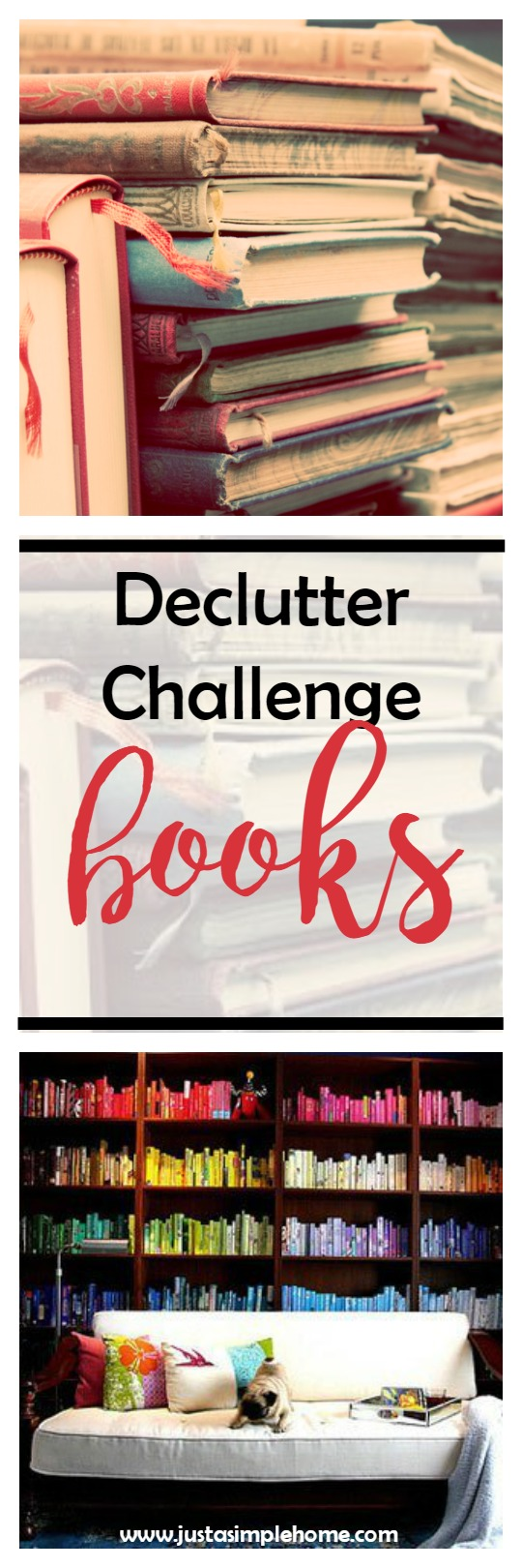 declutter challenge - books