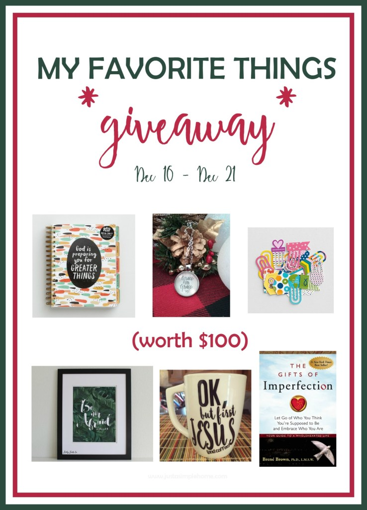 My Favorite Things Giveaway Just A Simple Home