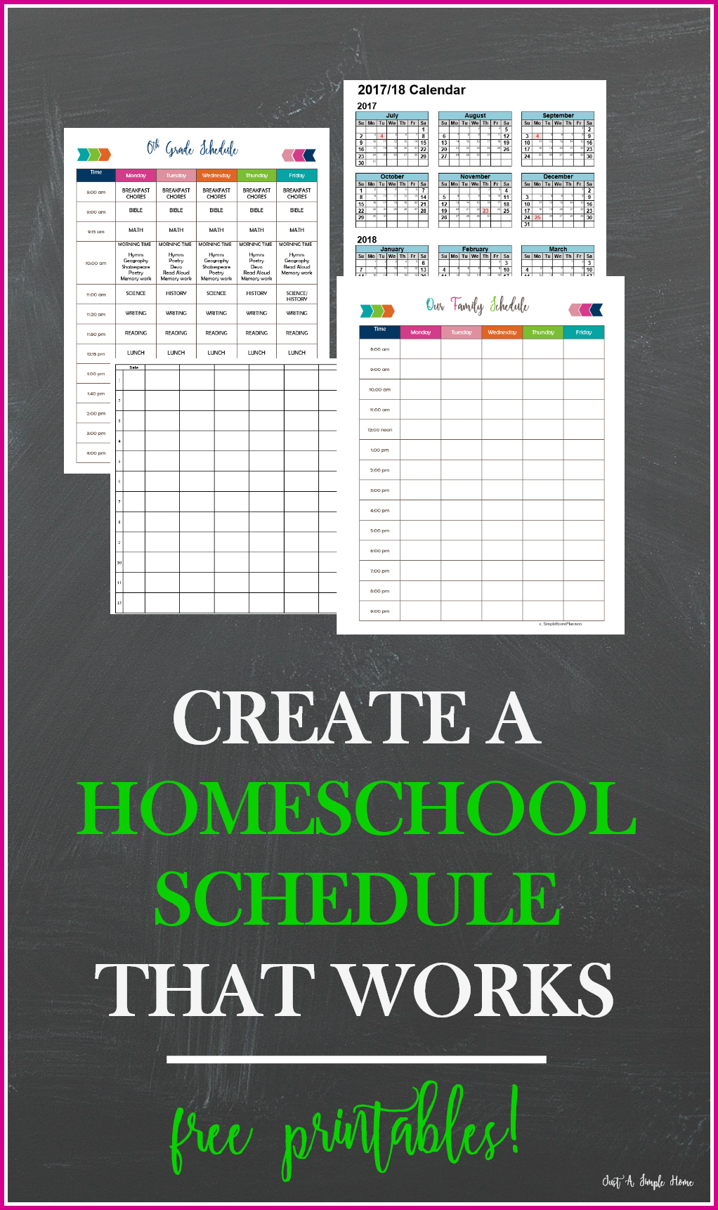 Create a homeschool schedule that works just a simple home for Create planner online