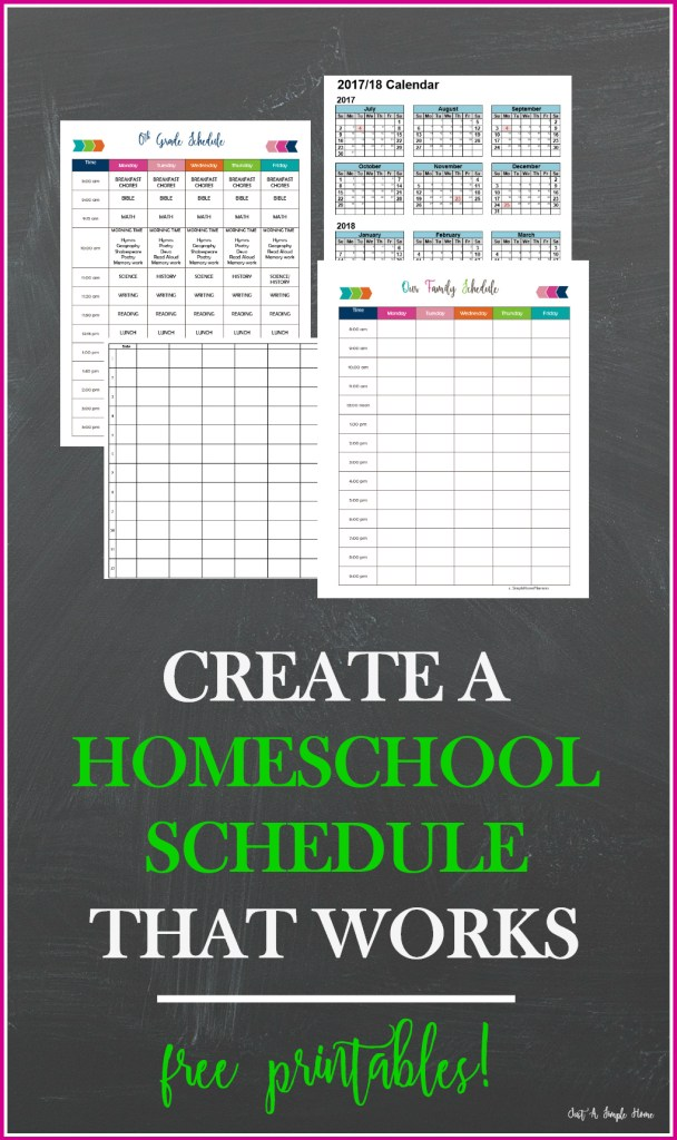 Create a Homeschool Schedule That Works with Free Planning Printables