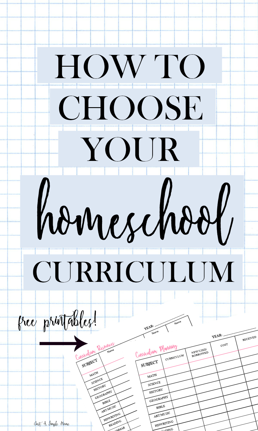 How To Choose Your Homeschool Curriculum - 10 Days of Homeschool Planning