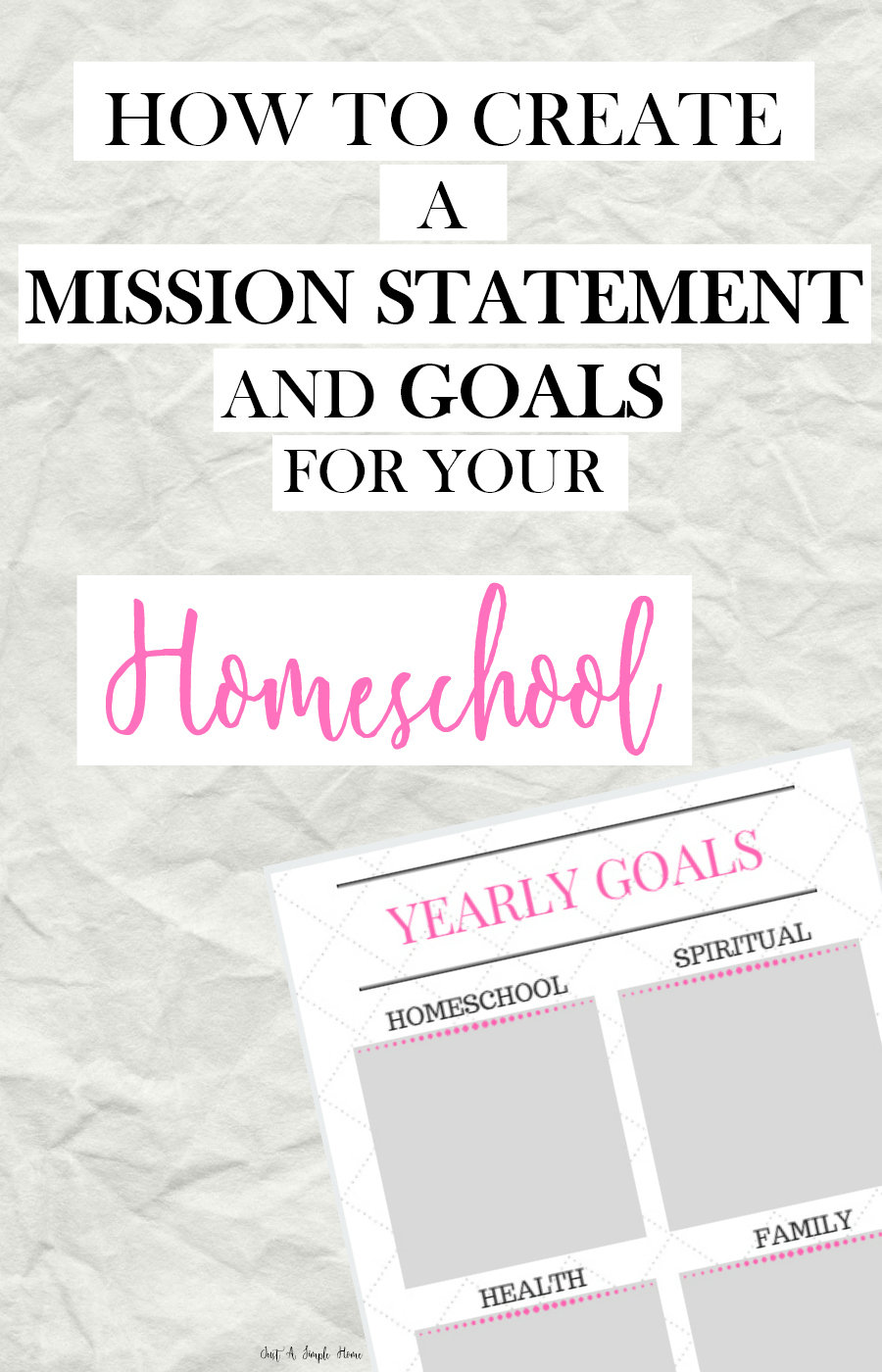 Create a Homeschool Mission Statement- Create Homeschool Goals