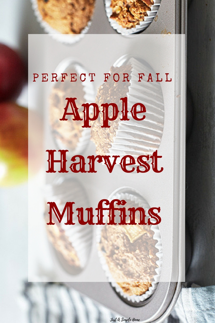 Apple Harvest Muffins fall recipes - apple recipes