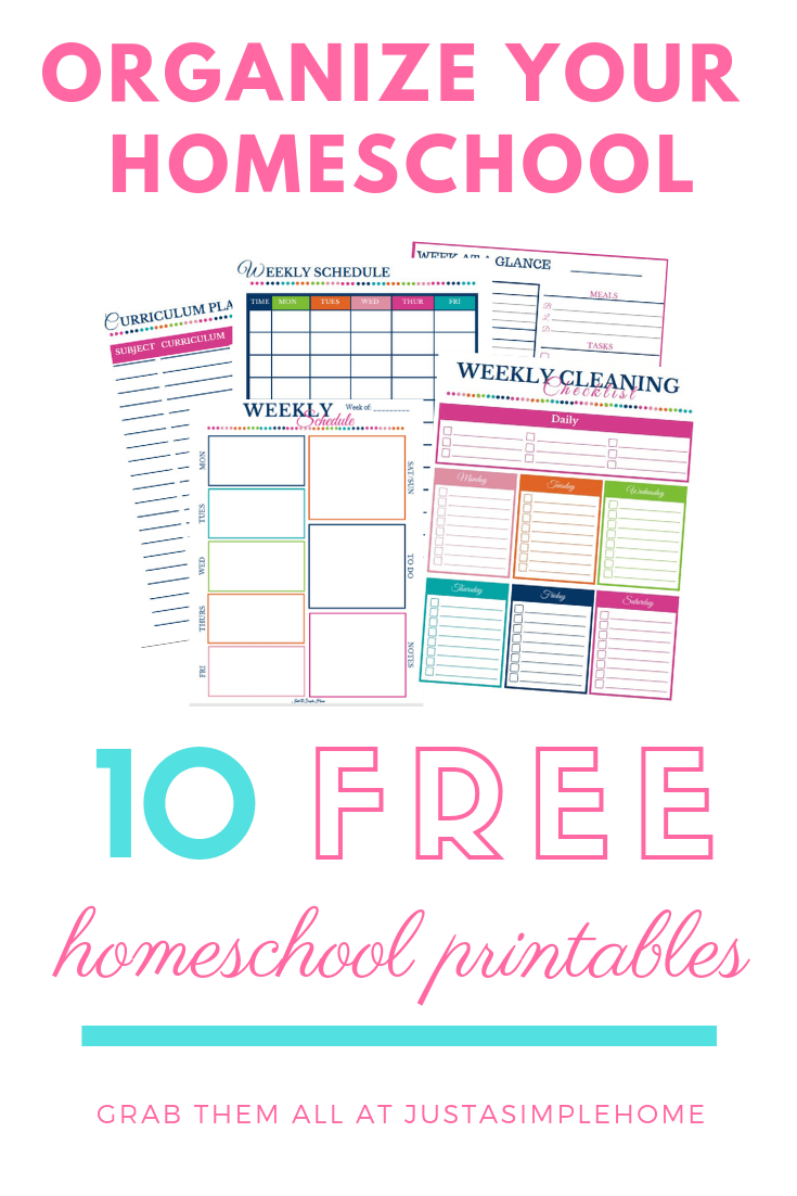 Free homeschool printables to help you plan and organize your homeschool! #homeschoolplanning #homeschoolprintables #freeprintables #homeschooling