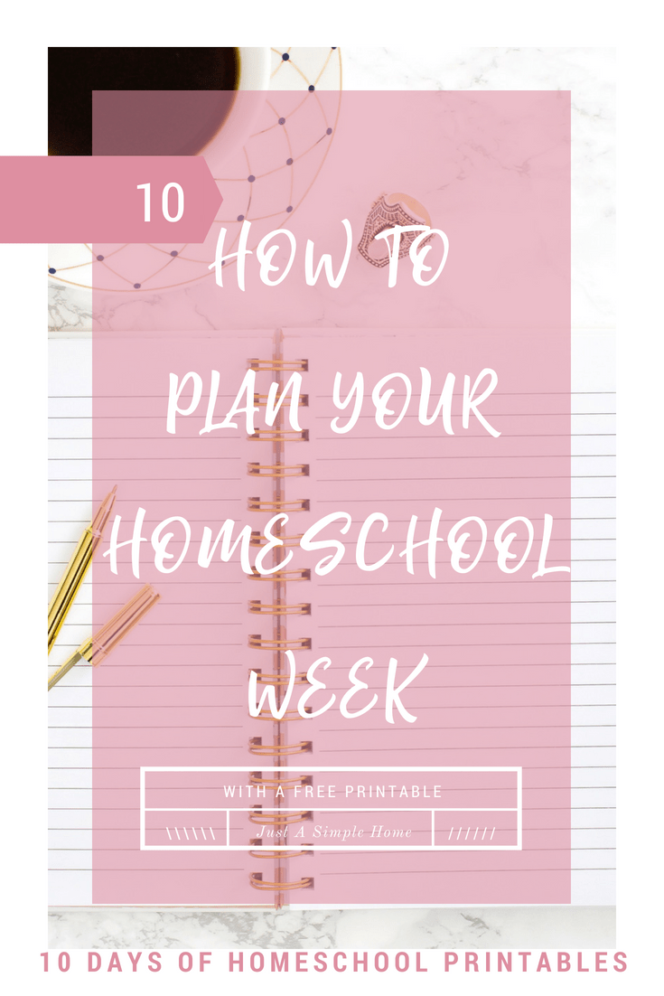 Plan out your homeschool week with a free weekly schedule printable. Learn how and why to create a weekly schedule for your homeschool. #homeschool #homeschoolplanner