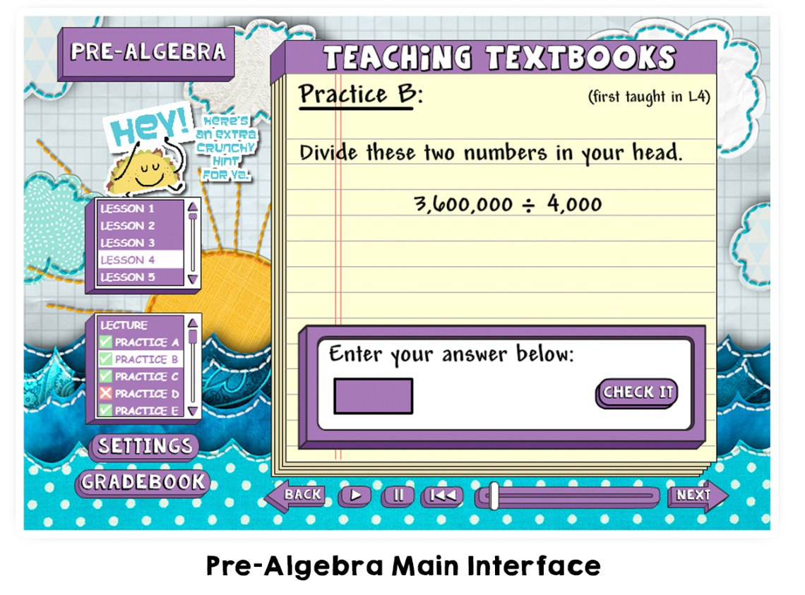 Teaching Textbooks 3.0 Pre Algebra