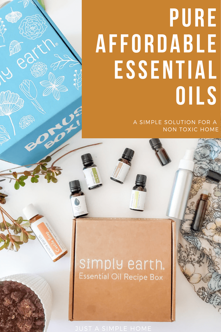 A review of the Simply Earth Essential Oils Box- a simple way to make your home less toxic! #essentialoils #healthyliving #simplyearth #ad