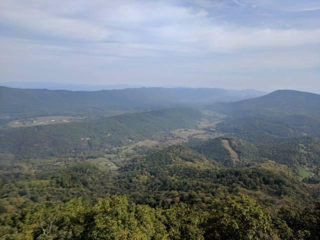 Hiking McAfee Knob