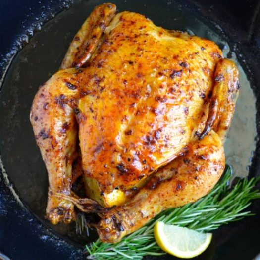Simple Roast Chicken with Garlic and Lemon | Just a Taste