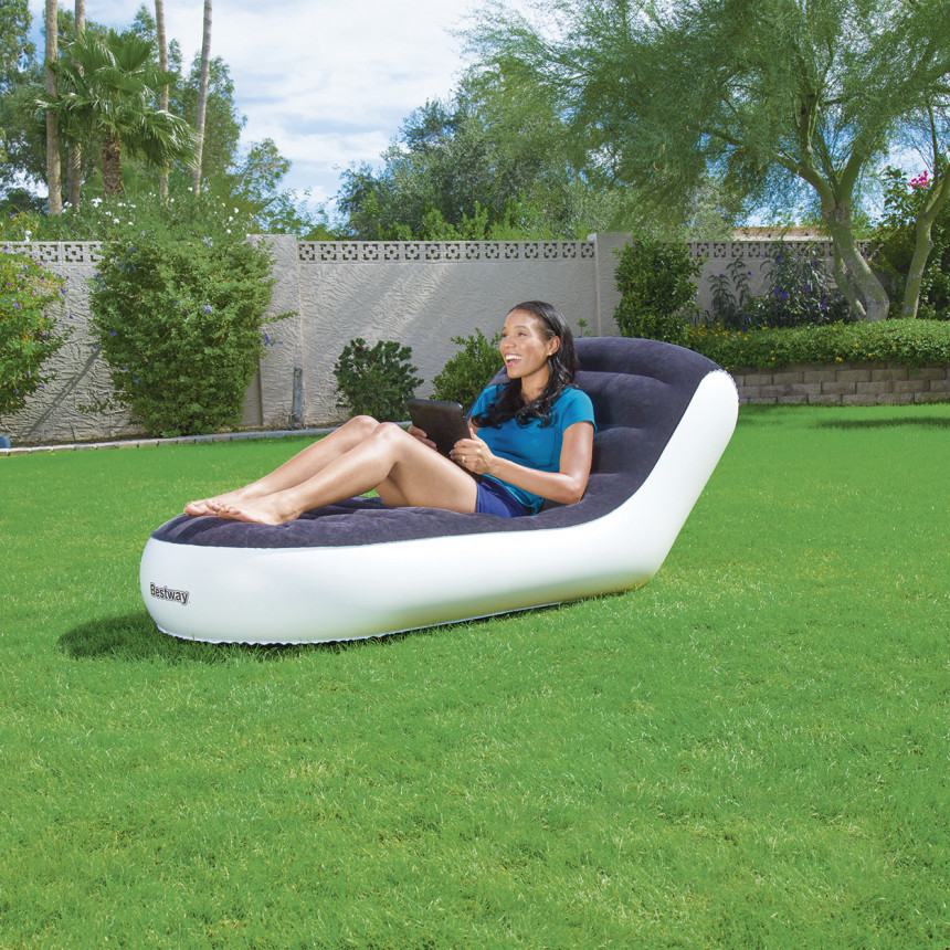 inflatable lawn chair wedding covers cotton bestway sport lounge online justathlete com