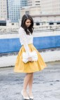 What to Wear with Yellow Skirt