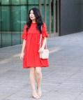 Cute Red Casual Dresses