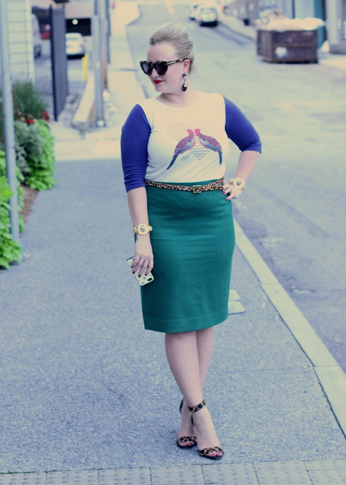 JCrew Skirt Top combo Atlanta Fashion Blogger