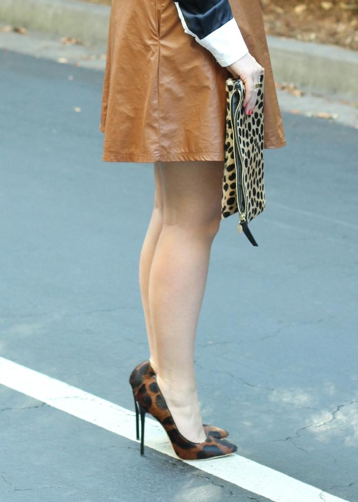 Tan Vegan Leather Skirt