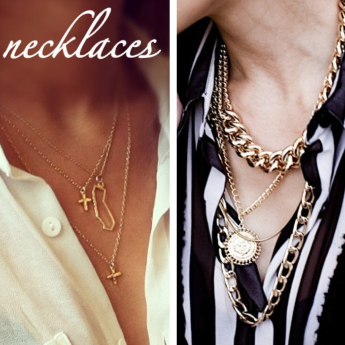 Gold Necklaces Accesories